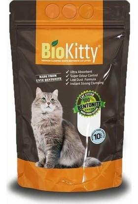 Biokitty Bentonit Kalın Taneli Kedi Kumu Ultra Topaklanan Tozsuz Marsiya Sabunu Kokulu 10 Litre