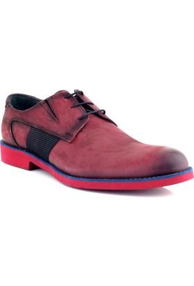 Ayakkabı Tarzım Bordo Deri Erkek Ayakkabı KW00307