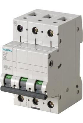 Siemens 5Sl6316-7Ya 3 Fazlı 16A C Tipi (Yavaş Karakterli) 6Ka Otomatik Sigorta