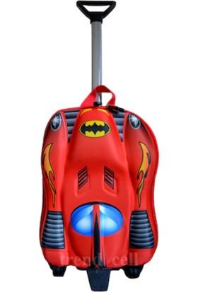Batman Batmobil Araba Şeklinde Çekçekli Anaokulu Sırt Çantası