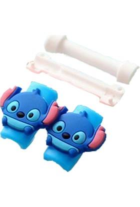 Svsera USB Kablosu Koruyucu Sevimli Karakterler Çift Taraflı Stitch