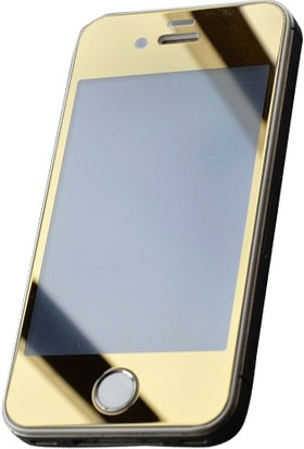 Bufalo Apple iPhone 4S Aynalı Ön+Arka Cam Ekran Koruyucu Gold