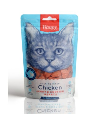Wanpy Oven Roasted Tavuklu ve Morina Balıklı 80 gr Kedi Ödülü