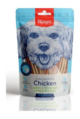Wanpy Oven Roasted Tavuklu Morina Balıklı Sandviç 100 gr Köpek Ödülü