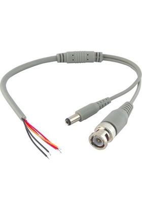 Ids Bnc+Power Jack 25Cm Hazır Kablolu Bnc Konnektör Güvenlik Kamerası Sistemleri İçindir