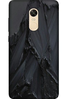 Cekuonline Xiaomi Redmi Note 4X Desenli Esnek Silikon Telefon Kapak Kılıf - Siyah Beton