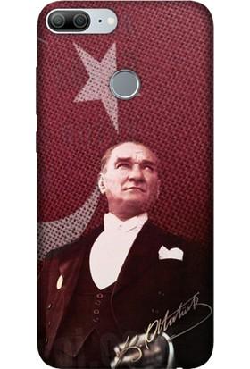 Cekuonline Huawei Honor 9 Lite Desenli Esnek Silikon Telefon Kapak Kılıf - M.K Atatürk