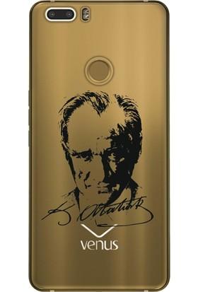 Cekuonline Vestel Venüs Z20 Desenli Esnek Silikon Telefon Kapak Kılıf - Atatürk