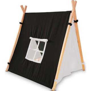 Svava Ahşap Çocuk Oyun Çadırı - Oyun Evi (Siyah - Beyaz)