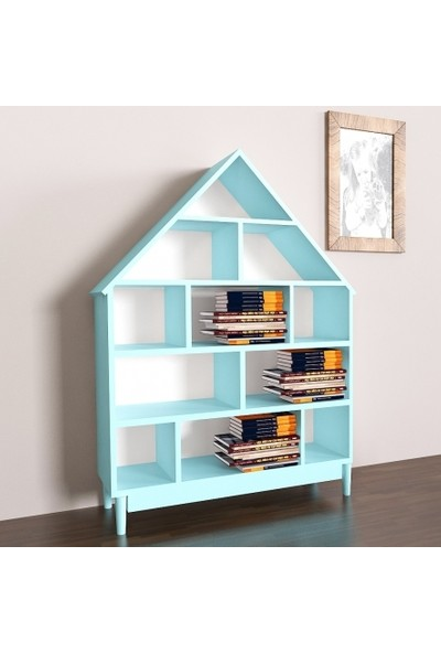 Facci Furniture Mint Yeşili Anita Montessori Lake Duvar Rafı Kitaplık