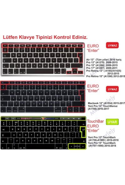 Macstorey Apple Macbook Pro A1706 A1989 13 A1707 A1990 15 Toucbarlı Q Klavye Koruyucu Silikon Kılıf UK Mix İngilizce 1297