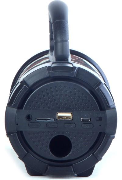 Unico F18 USB Hafıza Kartı Destekli Şarjlı Bluetooth Speaker Kahverengi Kamuflaj Desenli