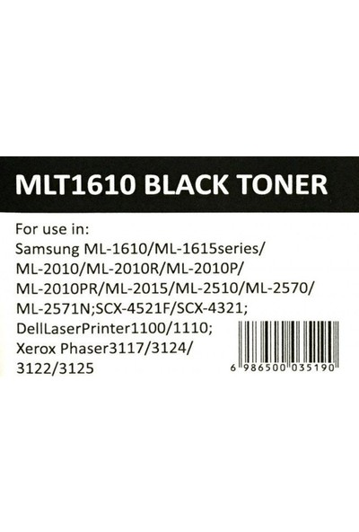 Newmark Samsung Uyumlu MLT-1610 Siyah Muadil Toner (Çipli)