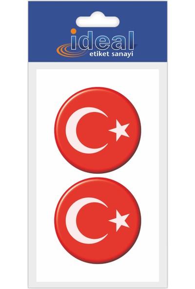 İdeal Etiket Türk Bayrağı - Damla Etiket
