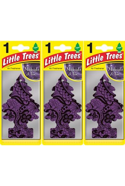 Little Trees Kağıt Koku Midnight Chic 3'lü Paket