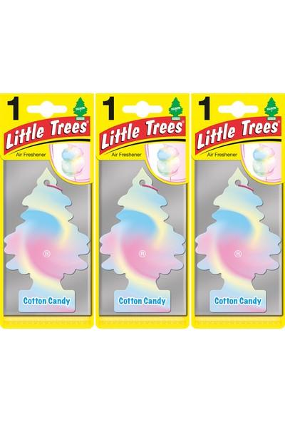 Little Trees Kağıt Koku Cotton Candy 3'lü Paket