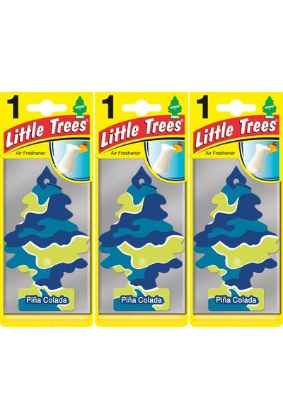 Little Trees Kağıt Koku Pina Colada 3'lü Paket