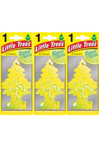 Little Trees Kağıt Koku Lemon Sherbet 3'lü Paket