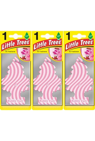 Little Trees Kağıt Koku Sakız Kokusu Bubble Gum 3'lü Paket