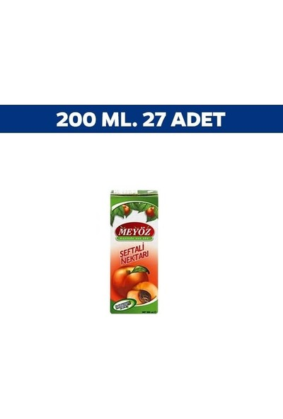 Meyöz Şeftali Meyvesuyu 200 ml x 27'li