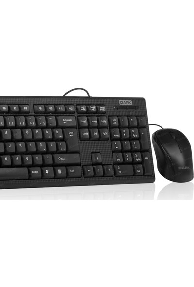 Dark Karbon Desenli Türkçe Q Klavye & Mouse Set (DK-AC-KM1000)