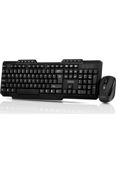 Dark Multimedia Butonlu Türkçe Q Kablosuz Klavye & Mouse Set (DK-AC-KMW1000)