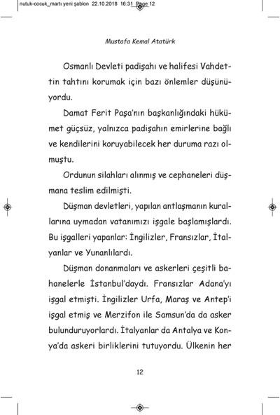 Çocuklar İçin Nutuk - Mustafa Kemal Atatürk