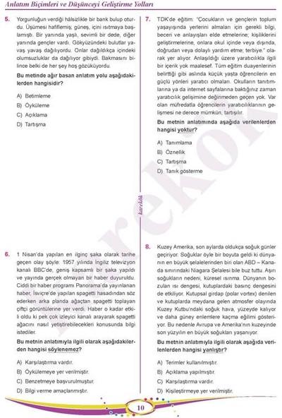 Karekök Yayınları 8.Sınıf Lgs Paragraf Soru Bankası