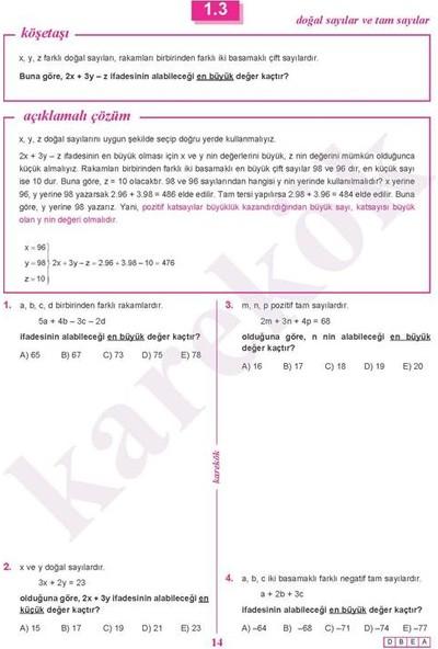 Karekök Yayıncılık Matematik Sıfır - Hüseyin Buğdaylıoğlu