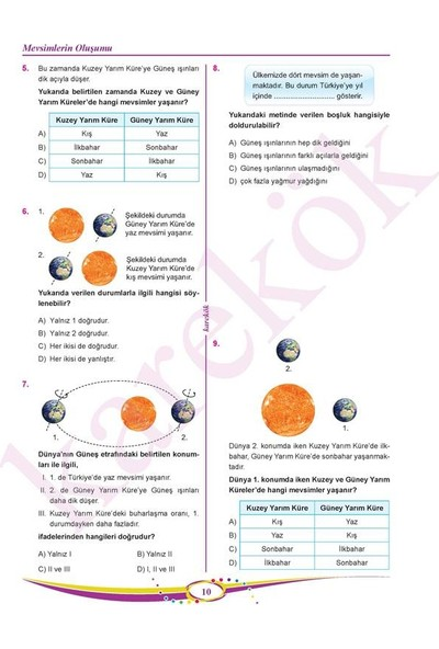 Karekök Yayınları 8.Sınıf Lgs Fen Bilimleri Soru Bankası