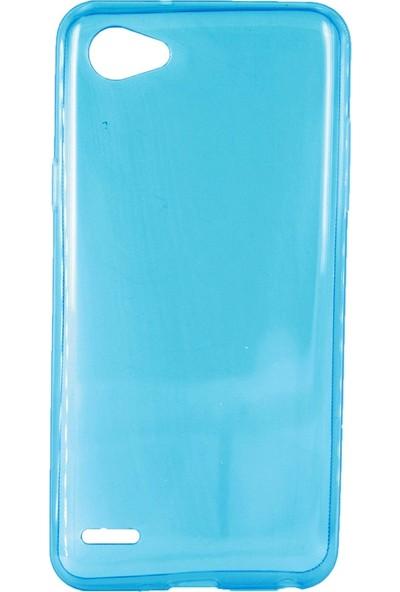 Case 4U LG Q6 Silikon Kılıf Mavi