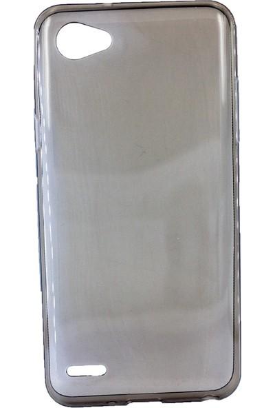 Case 4U LG Q6 Silikon Kılıf Füme