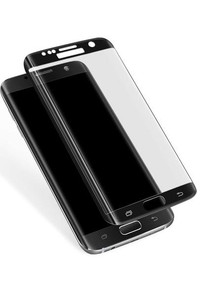 Case 4U Samsung Galaxy S7 3D Kavisli Cam Ekran Koruyucu Siyah