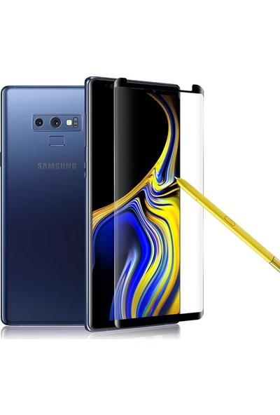 Case 4U Samsung Galaxy Note 9 3D Kavisli Temperli Cam Ekran Koruyucu Film Siyah