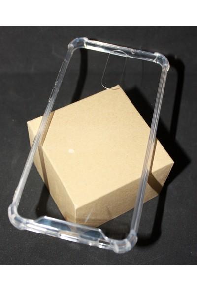 Case 4U Huawei Mate 10 Lite Darbe Emici Silikon Kılıf Sert Silikon Kılıf - Şeffaf