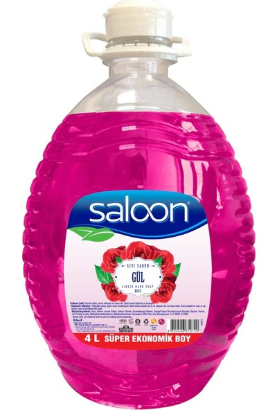 Saloon Sıvı Sabun Gül 4 lt 2'li