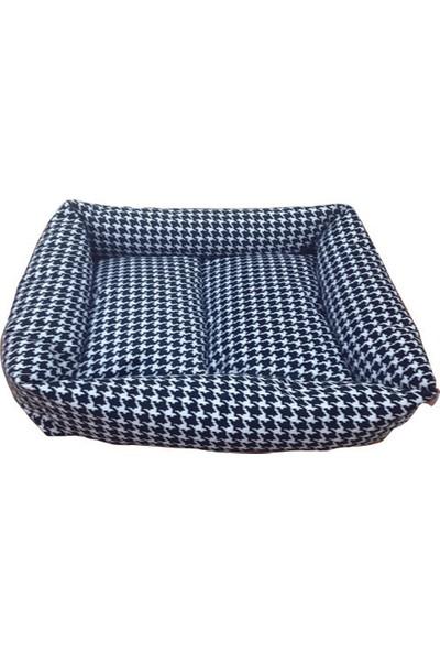 Mrs.Pillow Siyah Kazayağı Desen Kedi Ve Köpek Yatakları 45X45Cm