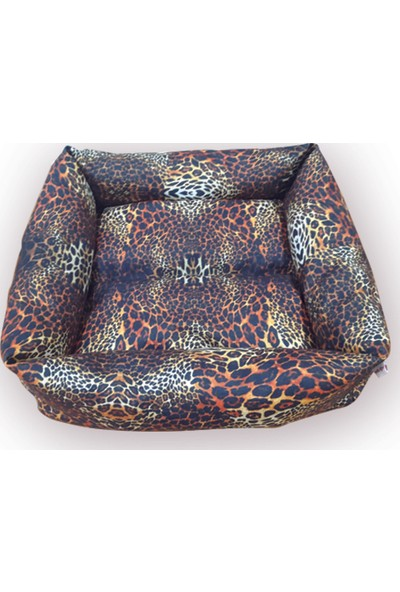Mrs.Pillow Leopar 1 Desen Kedi Ve Köpek Yatakları 45X45Cm