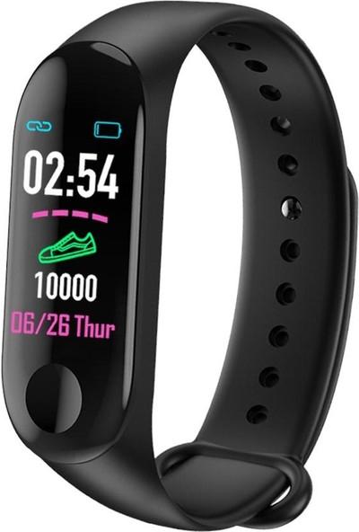Case 4U Band 3 Akıllı Bileklik - M3 Band - Adımsayar - Uyku Takip - Kalp Ritim Ölçer - Renkli Ekran