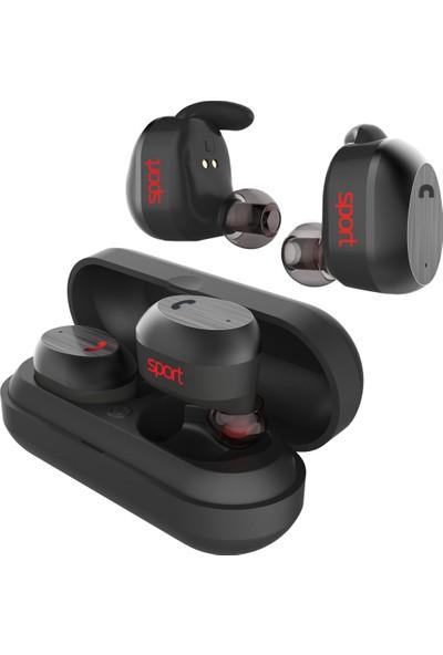 Elari NanoPods Sport TWS Stereo Bluetooth 5.0 Kulaklık - 20 Saate Varan Şarj Süresi - IP67 Suya Dayanıklılık - Hi-Fi Ses - Siyah