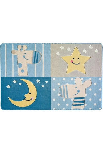 Confetti Çocuk Halısı Sleepy 133 x 190 cm Mavi