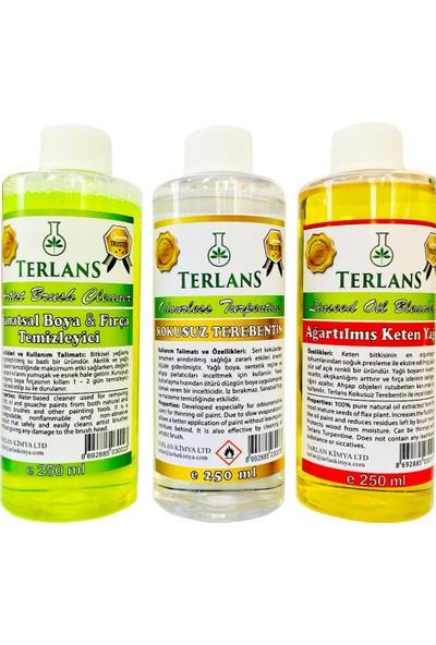 Terlans Yağlı Boya Seti Yardımcı Malzemeler 3 x 250 ml