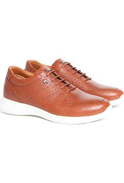 Cacharel C3904A-3 Taba Erkek Deri Sneaker Ayakkabı