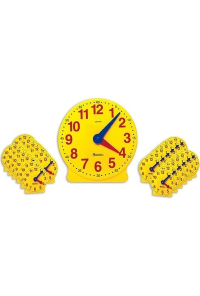 Learning Resources Classroom Clock Kit 1 Demonstration Clock- 24 Student Clocks