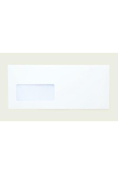 Doğan Diplomat Zarf 10,5X24 110Gr 1 Hamur Silikonlu Pencereli 100 Lü