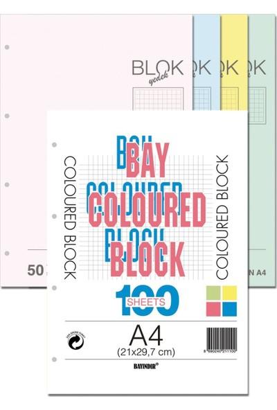 Bayındır Kolej Yedek Çizgili 4 Renk 100 Yaprak A4