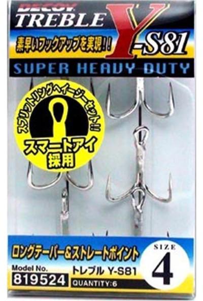 Decoy Y S81 Treble Süper Heavy Duty Üçlü 6P Olta İğnesi