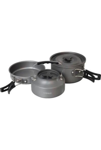 Nurgaz Üçü Bir Arada Tencere Tava Çaydanlık Set