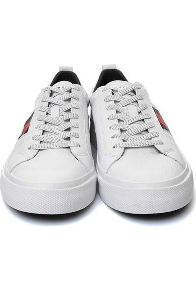 Tommy Hilfiger Fm01712-100 Detail Leather Erkek Günlük Ayakkabı