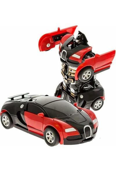 Otomatik Robota Dönüşen Araba Kırmızı Renk